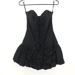Black Mini Strapless Cache Dress Size 6